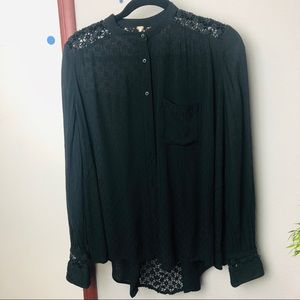 [FREE PEOPLE] Western black shirt size XS